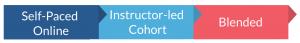 Self-Paced Online. Instructor-led Cohort. Blended.