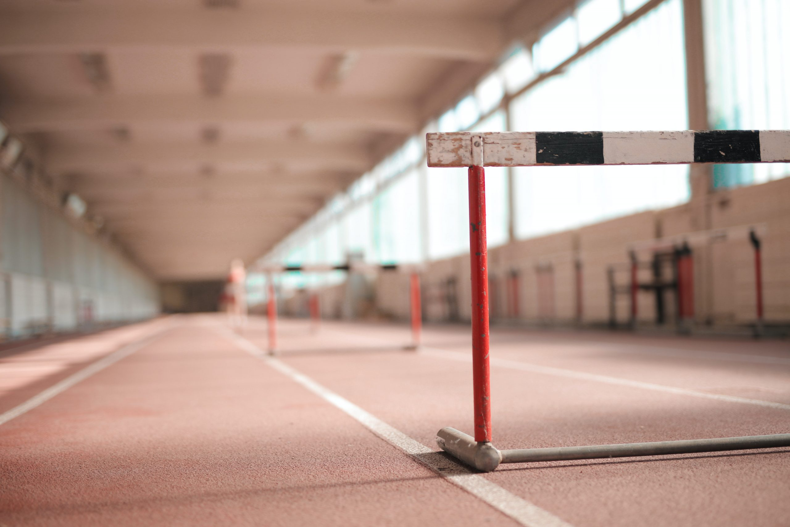 Hurdle on an empty track